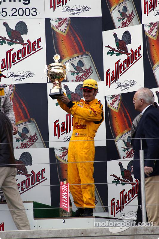 The podium: Laurent Aiello