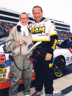 Ken Schrader with car owner Beth Ann Morgenthau