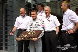 David Coulthard celebra 150 Grandes Premios con McLaren