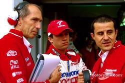 Humphrey Corbett, Olivier Panis and Ange Pasquali
