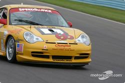 la Porsche GT3 Cup n°66 de l'équipe SpeedSource pilotée par Paul Mears Jr., David Haskel, Shane Lewis