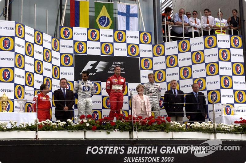 2003. Подіум: 1. Рубенс Баррікелло, Ferrari. 2. Хуан-Пабло Монтойя, Williams-BMW. 3. Кімі Райкконен,