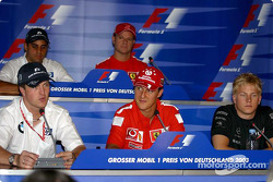 Thursday FIA press conference: Ralf Schumacher, Michael Schumacher, Kimi Raikkonen, Juan Pablo Montoya and Rubens Barrichello