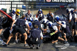 Pitstop practice at Williams-BMW