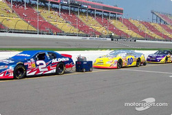 Ron Hornaday and Scott Riggs' cars
