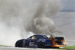 Rusty Wallace on fire!