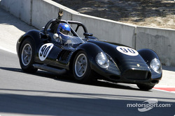 #90 1958 Lister-Chevy pulls off the track