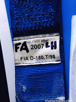 Detail of a seat belt