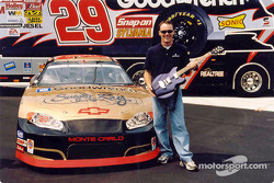 Kevin Harvick is in the spirit with this Gibson guitar for the Rock & Roll-themed NASCAR weekend coming up September 4-6 at Richmond International Raceway