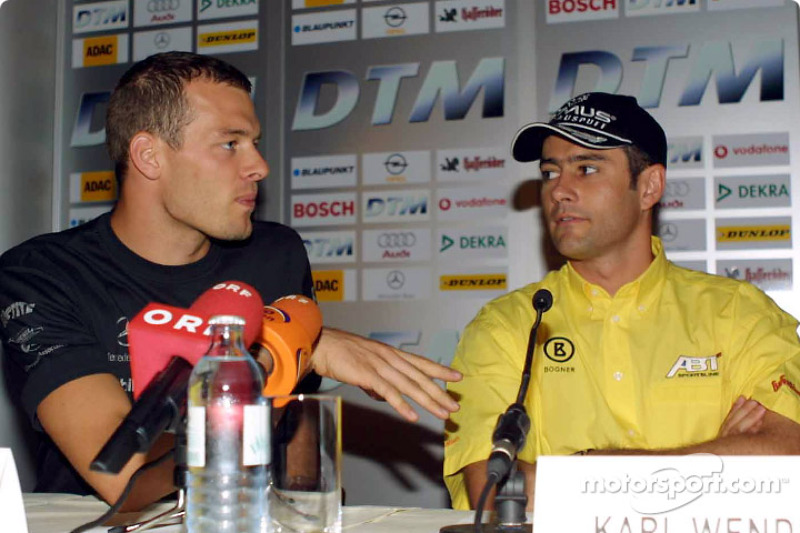 Press conference in Palais Ferstel, Vienna: Alexander Wurz and Karl Wendlinger