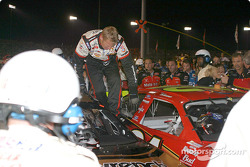 Incident in pitlane between Kevin Harvick and Ricky Rudd:  members of Harvick crew damaged Rudd's car by climbing on it