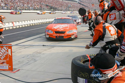 Tony Stewart enters the pits