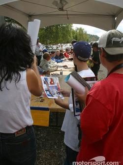 Fans at drivers autograph session