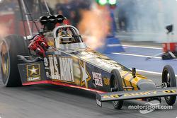 Tony Schumacher blisters the track