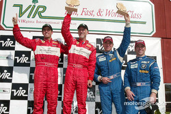 GT podium: winners Cort Wagner and Brent Martini, Brian Cunningham and Hugh Plumb