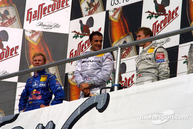 Podium: race winner Jean Alesi, Mattias Ekström and Marcel Fassler