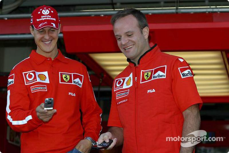 Evento promocional de Vodafone: Michael Schumacher y Rubens Barrichello