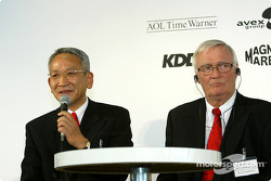 Megaweb event: Tsutomu Tomita and Ove Andersson during the press conference at the Megaweb