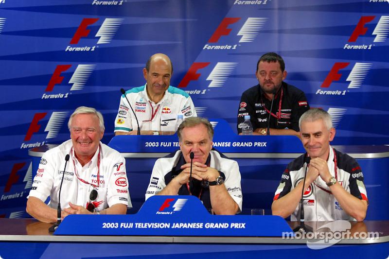 Conferencia de prensa viernes: Ove Andersson, Patrick Head, Geoff Willis, Peter Sauber y Paul Stoddart