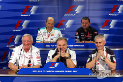 Friday press conference: Ove Andersson, Patrick Head, Geoff Willis, Peter Sauber and Paul Stoddart