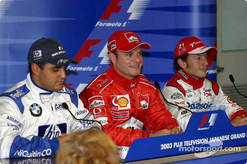 Conferencia de prensa sábado: Montoya, Rubens Barrichello y Cristiano da Matta