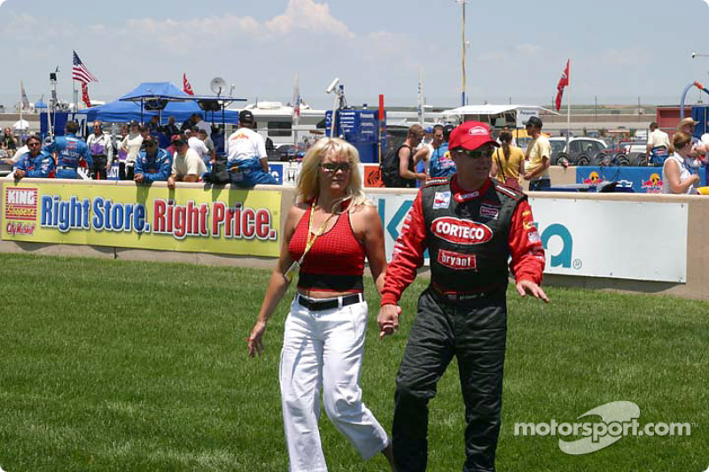 Al Unser Jr. and girlfriend Gina at