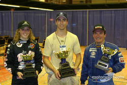 Race winner Olivier Lambert with François Bellemare and Ashley Taws