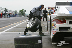 Pre-race activity at Brumos Racing