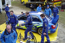 Subaru World Rally Team service area in Monte Carlo