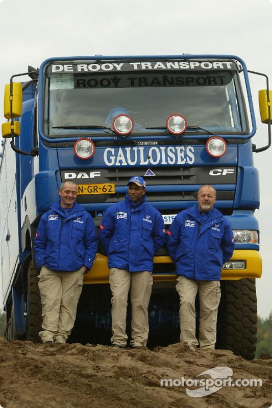 L'équipe d'assistance : Leo Donkers, Mohamed El Bouzidi et Clemens Smulders