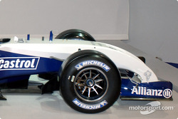 Detail of the new WilliamsF1 BMW FW26