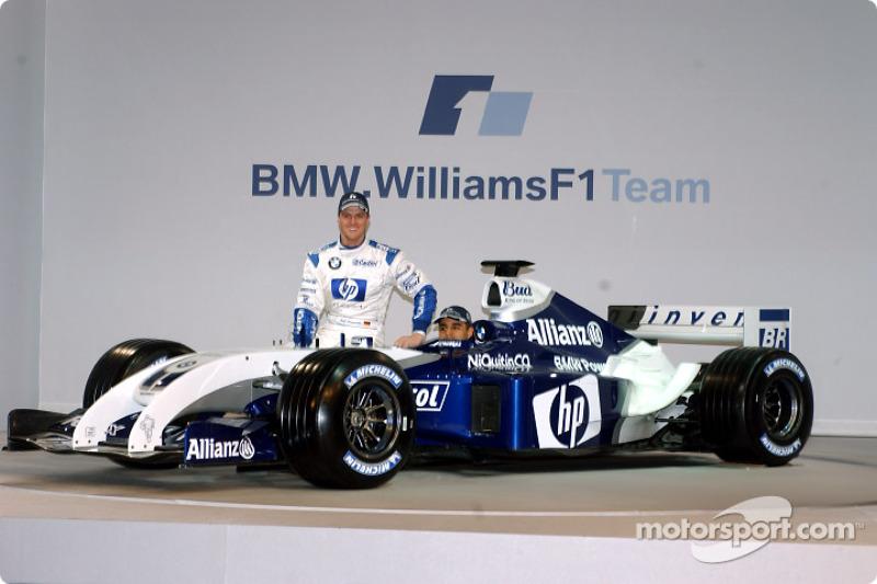 Ральф Шумахер і Хуан-Пабло Монтойя з новим Williams FW26 BMW