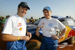 Jutta Kleinschmidt and Bruno Saby