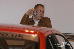 Rob Huff on SEAT stand at Autosport International