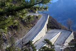 The twisty mountain roads that characterize the Rally Monte Carlo