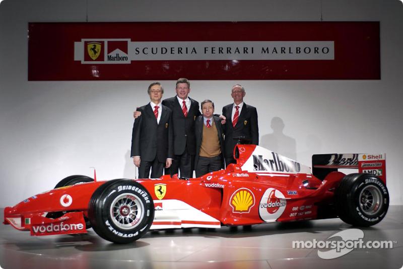 Паоло Мартінеллі, Росс Браун, Жан Тодт, Рорі Бірн і Ferrari F2004