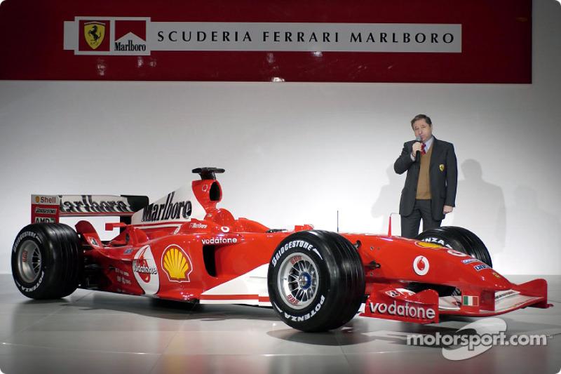 Jean Todt presents the new Ferrari F2004