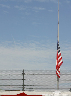 Flag at half mast to honor the memory of safety crew member Roy W. Weaver fatally injured on Sunday during the DASH series race
