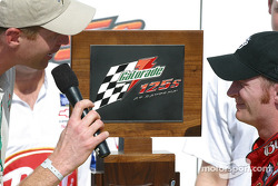 Dale Earnhardt Jr. accepts Twin 125s trophy