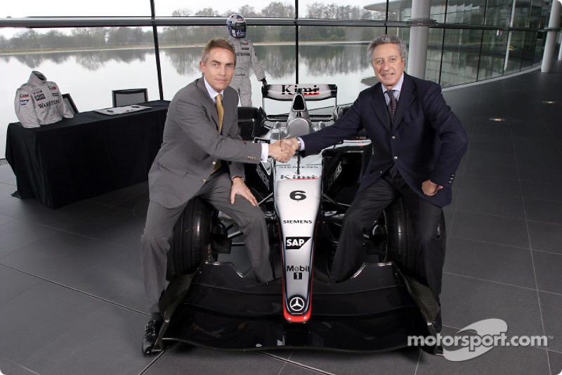 McLaren-Sparco presentation: Martin Whitmarsh and Diego Basso at the McLaren Technology Centre