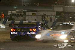 #73 BE Racing Ferrari 360 Modena: Klaus Engelhorn, Dieter Quester, Philipp Peter, Andrea Montermini spins