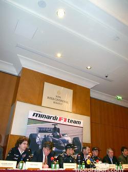 Press conference: Zsolt Baumgartner, Paul Stoddart and Gianmaria Bruni