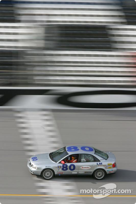 L'Audi A4 n°80 du LM Racing (John Legg, Wes Allen)