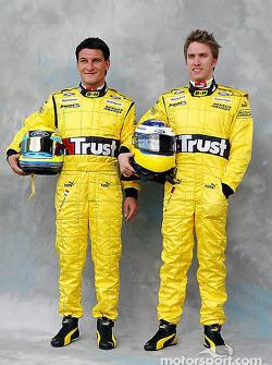 Photoshoot: Giorgio Pantano and Nick Heidfeld