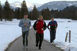 Pierre Kaffer and Rinaldo Capello with coach