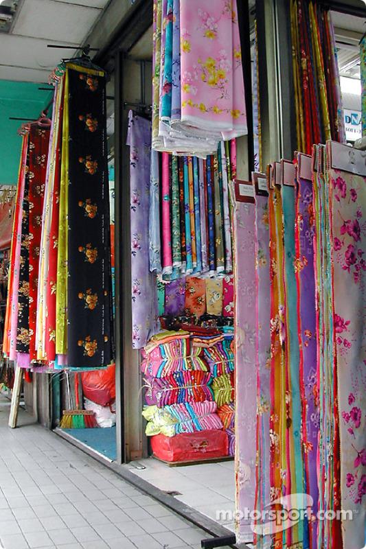 Un magasin de tissus