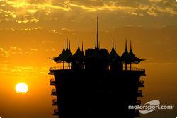 Sunset on Bahrain International Circuit