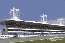 Rendering of the grandstand