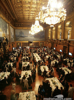 Overall view of the gala inside Hamburg City Hall