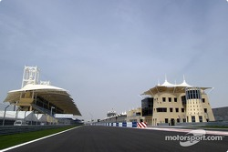 Start/finish straight at Bahrain International Circuit